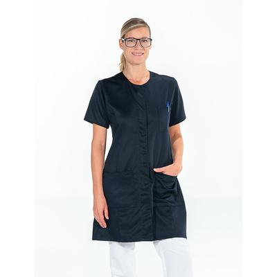 acheter jolie blouse de travail bleu marine manches courtes avec poches