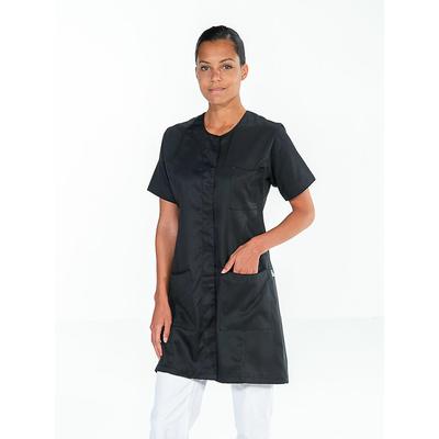 belle blouse de travail noire à manches courtes pas chère