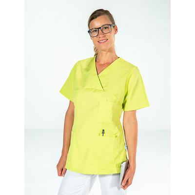 voir casaque médicale manches courtes vert pistache pour femme