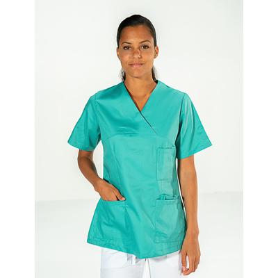 acheter casaque médicale vert manches courtes pour femme pas cher