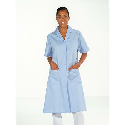 trouver jolie blouse médicale bleu ciel pour femme à manches courtes