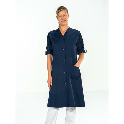 blouse médicale bleu marine manches longues ajustables pour femme