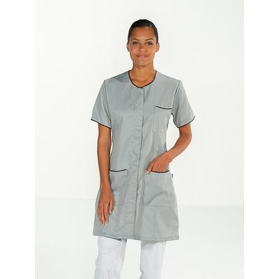 jolie blouse de travail manches courtes pour femme coloris gris clair