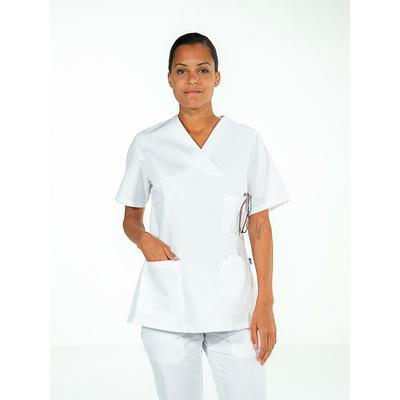 trouver casaque médicale professionnelle pour femme manches courtes blanc