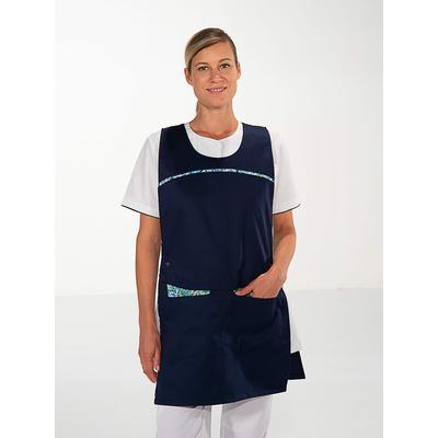 trouver chasuble agent nettoyage hopital bleu marine avec motifs Liberty
