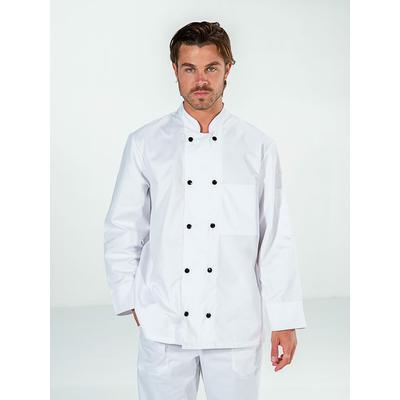 voir veste chef cuisinier manches longues blanc