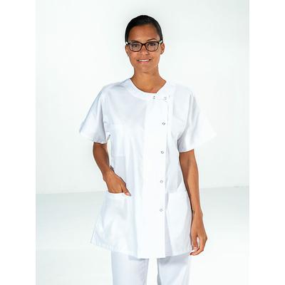 trouver tunique infirmière blanc manches courtes pas cher