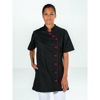 tunique esthéticienne noir manches courtes esprit kimono