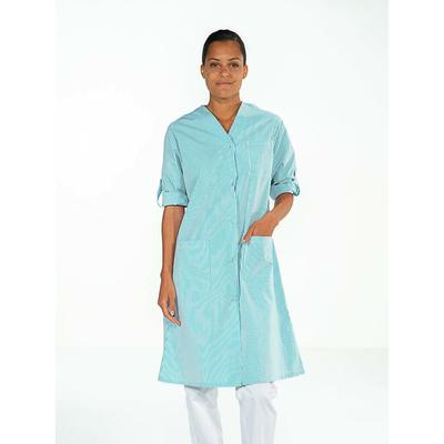trouver blouse de travail femme ménage rayé bleu avec manches réglables