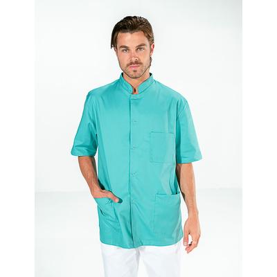 tunique dentiste manches courtes vert aqua pour homme