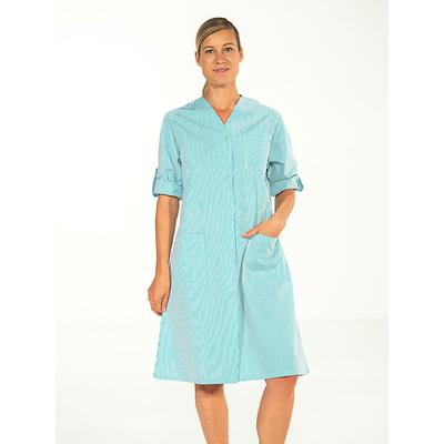 voir blouse femme ménage hopital manches ajustables rayé vert pas cher