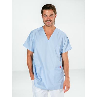 trouver casaque infirmier bleu ciel manches courtes
