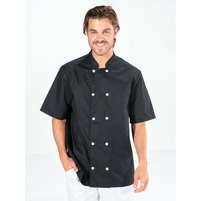 acheter veste cuisinier manches courtes noire pas cher