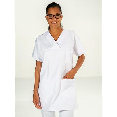 voir tunique médicale infirmière blanche manches courtes kimono