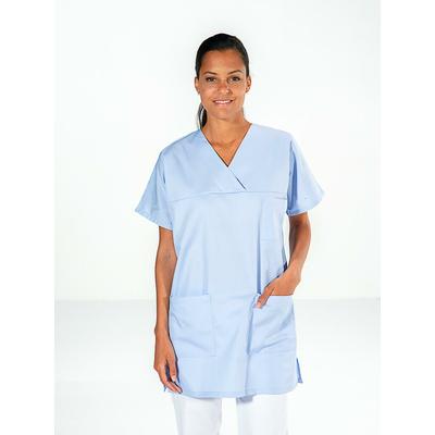 trouver casaque médical infirmière manches courtes bleu clair