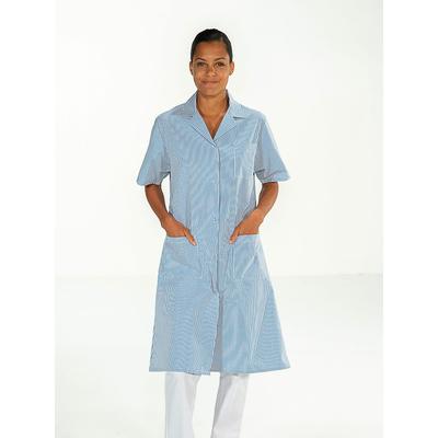 blouse agent nettoyage rayé bleu manches courtes pas cher