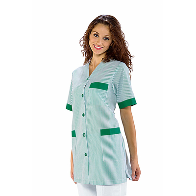 blouse de ménage verte