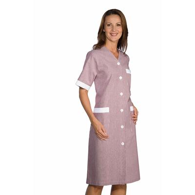 blouse de travail michelle blanc ray bordeaux 100 coton. Black Bedroom Furniture Sets. Home Design Ideas