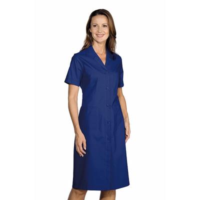 blouse de travail femme manches courtes bleue