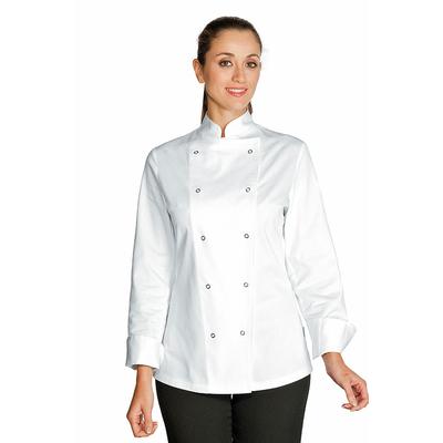 veste de cuisine femme esmeralda blanc 100 coton. Black Bedroom Furniture Sets. Home Design Ideas