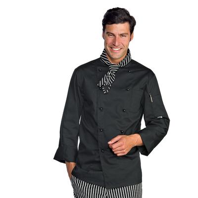 Veste homme chef cuisinier noir polycoton for Achat veste de cuisine