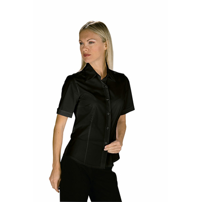 chemise noire manches courtes Femme