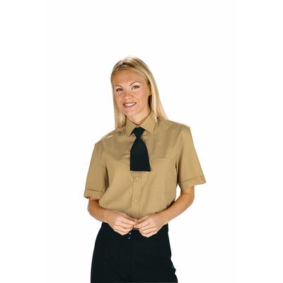 Chemise femme manches courtes marron