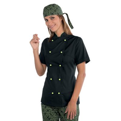 veste de cuisine noire pour femme tissu extra l ger vestes de cuisine vestes de cuisine femme. Black Bedroom Furniture Sets. Home Design Ideas