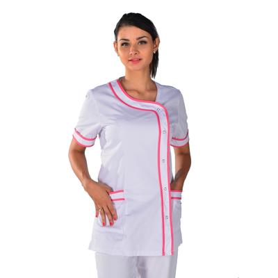 Tunique médicale blanche et rose Clinic Look