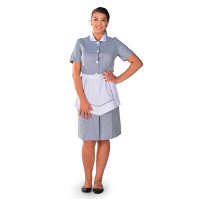 Blouse femme de chambre à manches courtes grise Carlton