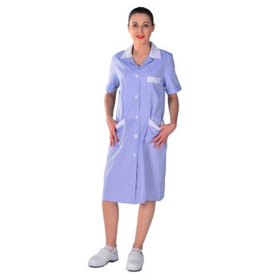 Blouse de travail femme bleue