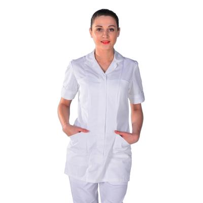 Tunique médicale blanche manches courtes Leila