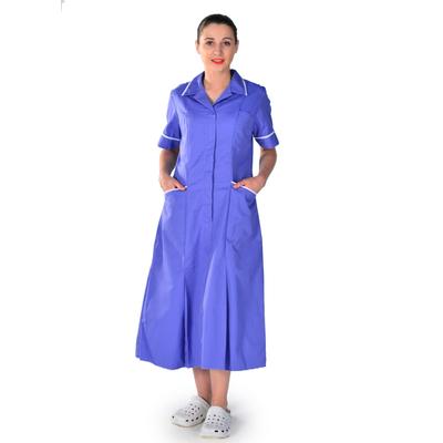 Blouse médicale bleu manches courtes Darina