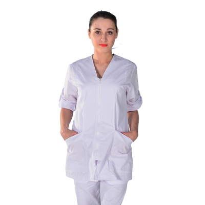 Blouse médicale manches transformables
