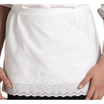tablier serveuse dentelle blanche