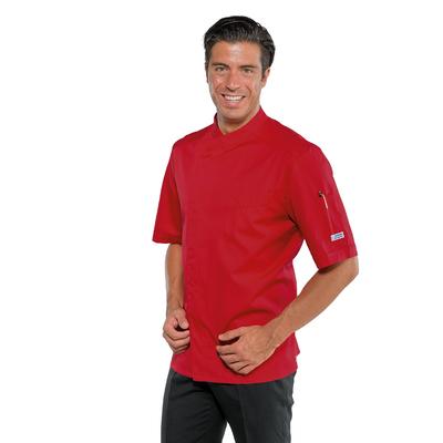 Veste de cuisine  manches courtes Bilbao Rouge - 059307M