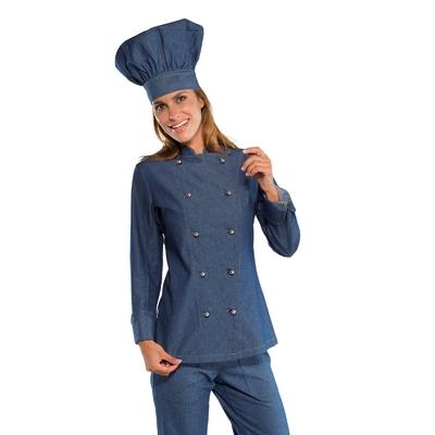 Veste de cuisine en Jeans pour Femme - 057577.jpg