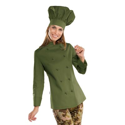 Veste cuisine Femme vert olive - 057534.jpg