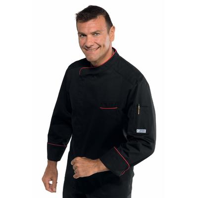 Veste de cuisine noire et rouge Bilbao - 059337.jpg