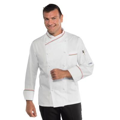 Veste blanche de cuisine italienne  100% coton - 058210.jpg