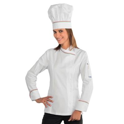 Veste cuisine italienne pour Femme 100% coton - 057710.jpg
