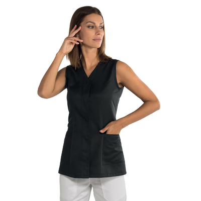 Tunique de travail noire sans manches Bahia tissu Superdry - 011431.jpg
