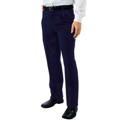 Pantalon a Pinces Taille Haute Homme Bleu - 063001.jpg