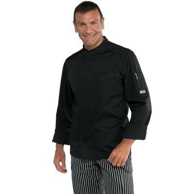 Veste Cuisinier Bilbao Noir Polycoton - 059301.jpg