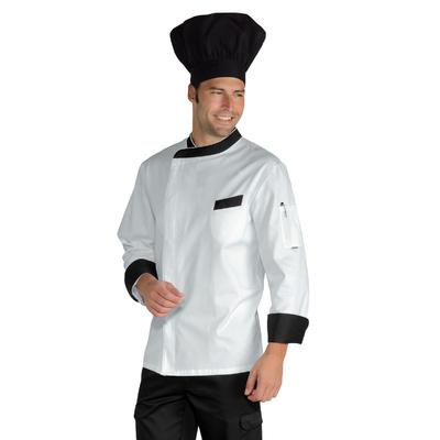 Veste De Cuisine Durango Blanche Noir - 059401.jpg