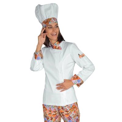 Veste Chef Femme Snaps Blanc delicious 100% Coton - 057727.jpg