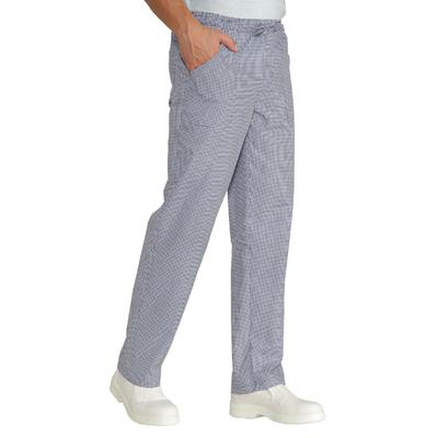 Pantalon Cuisinier Pied De Poule Blanc et Bleu - 044662.jpg
