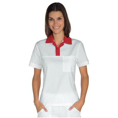 Polo Miami Unisexe Stretch Blanc Rouge - 028707.jpg