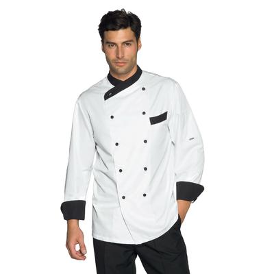 Veste Cuisine Giza blanc et noir traitement anti taches - 057411.jpg