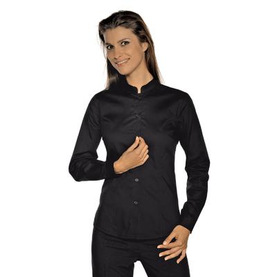 chemise stretch col mao noir restauration et r ception chemises chemisier chemisette pour. Black Bedroom Furniture Sets. Home Design Ideas